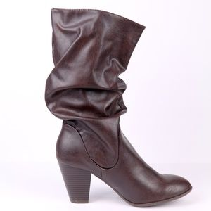 Womens Rampage Slouchy  Mid Calf Boots